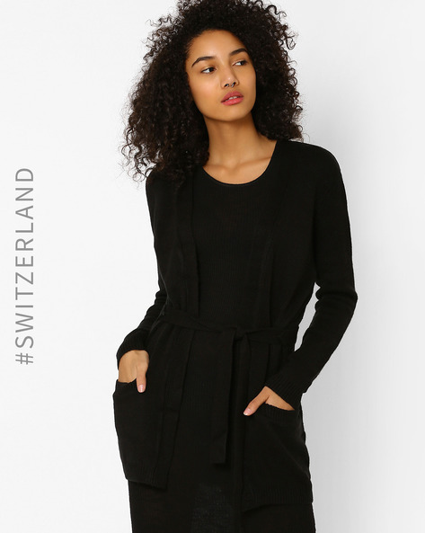Cardigan With Front Pockets By TALLY WEiJL ( Black )