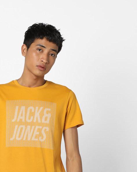 Brand Graphic Print T-shirt By Jack & Jones ( Orange )