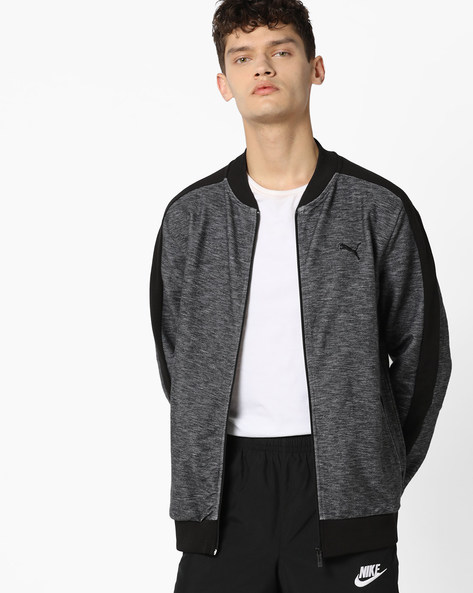 Front-Zip Jacket With Insert Pockets By Puma ( Black )
