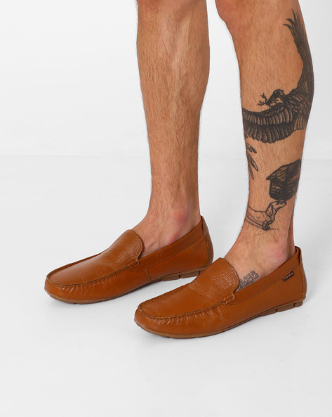 Genuine Leather Casual Loafers By RED TAPE ( Tan )