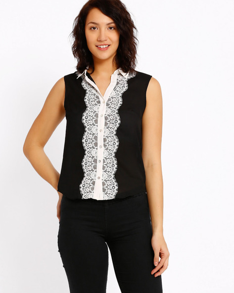 Sleeveless Top By CHM ( Black )