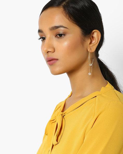 Beaded Hoop Earrings By Pipa Bella ( Gold )