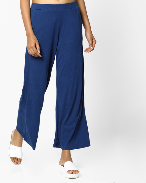Palazzo With Elasticated Waistband By PE WW Casual ( Navy )