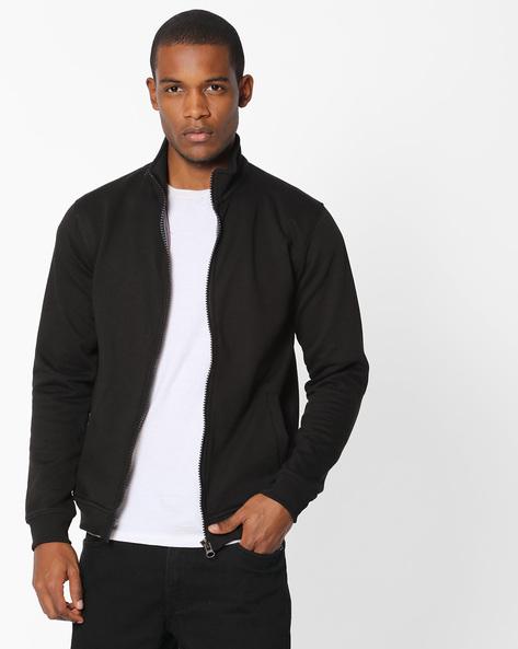 Zip-Front Fleece Sweatshirt By Fort Collins ( Black )