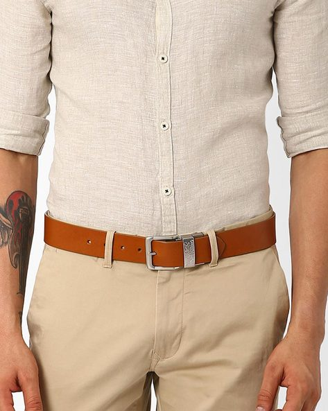 Genuine Leather Reversible Belt By LEVIS ( Tan )