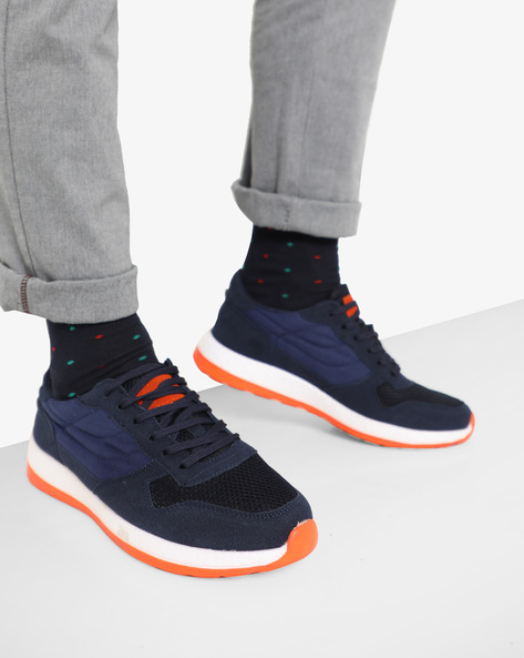 Lace-Up Sport Shoes By AJIO ( Navy )