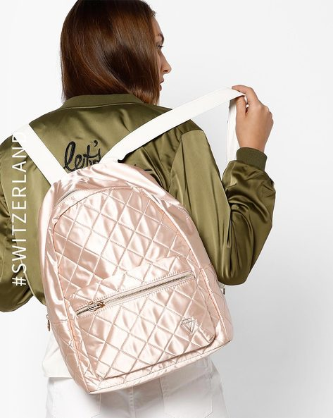 Glossy Quilted Backpack By TALLY WEiJL ( Pink )