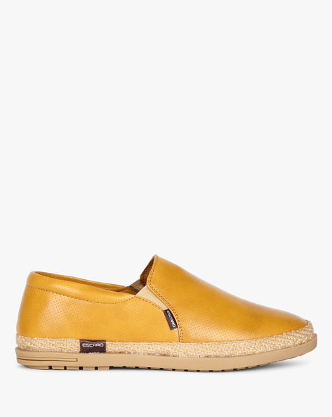 Espadrilles With Braided Outsole By ESCARO ( Yellow )