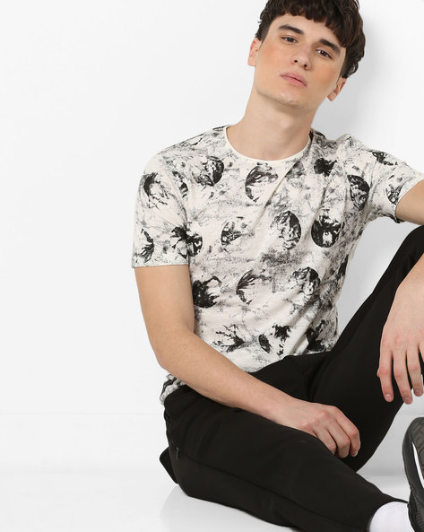 Graphic Print T-shirt By Killer ( Offwhite )