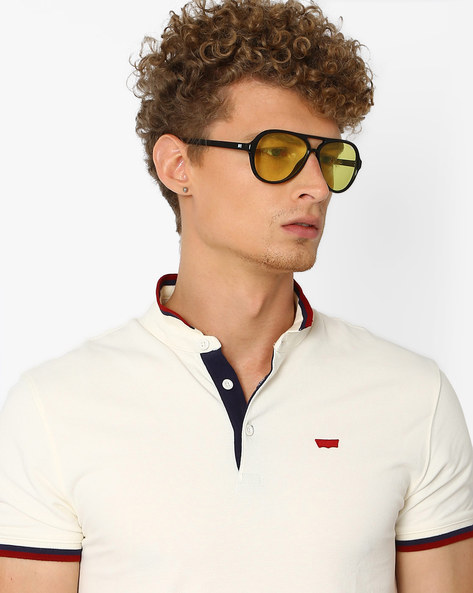 UV-Protected Full-Rim Sunglasses By MTV ( Yellow )