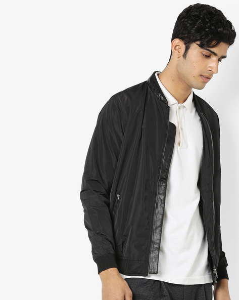 Front-Open Jacket With Insert Pockets By SPYKAR ( Black )