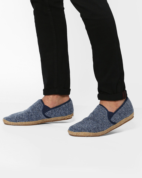 Slip-Ons With Elasticated Gussets By Carlton London ( Navyblue )