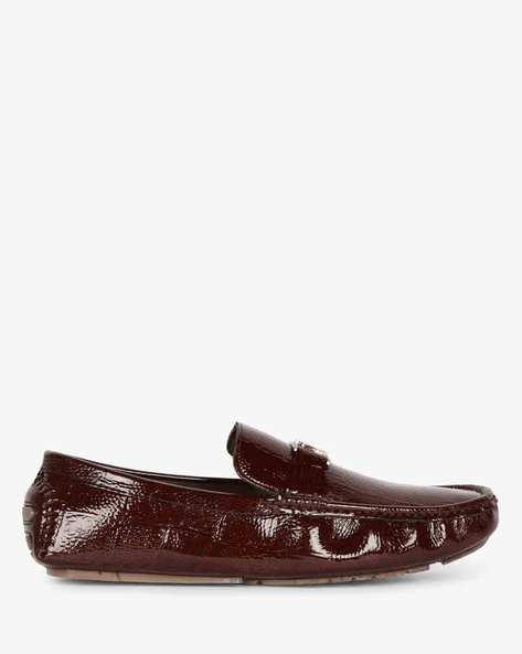 Textured Loafers With Metal Accent By SAN FRISSCO ( Tan )