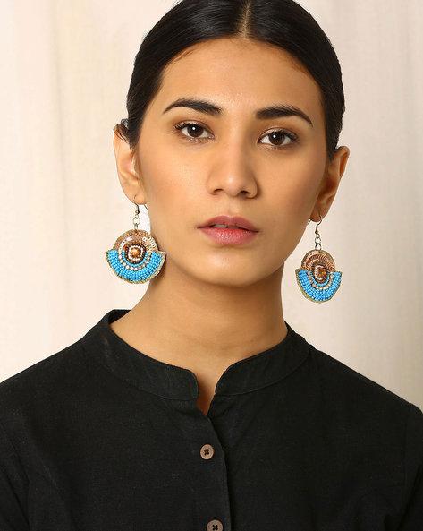 Beaded Dangler Earrings By Indie Picks ( Lightblue )
