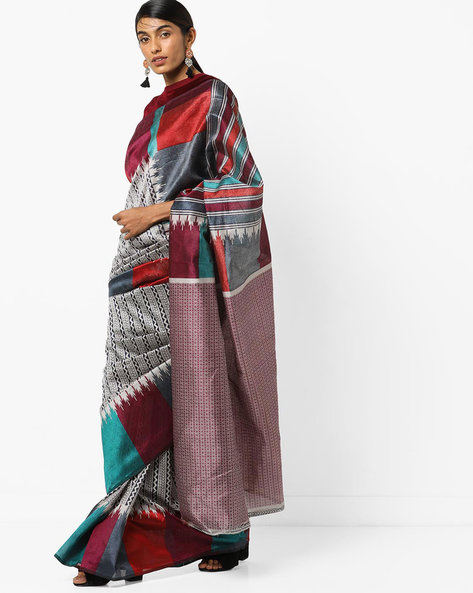 Printed Saree With Blouse By Florence ( Multi )