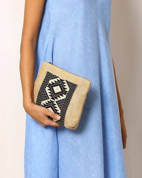 Aztec Pattern Cotton Clutch By Indie Picks ( Multi )