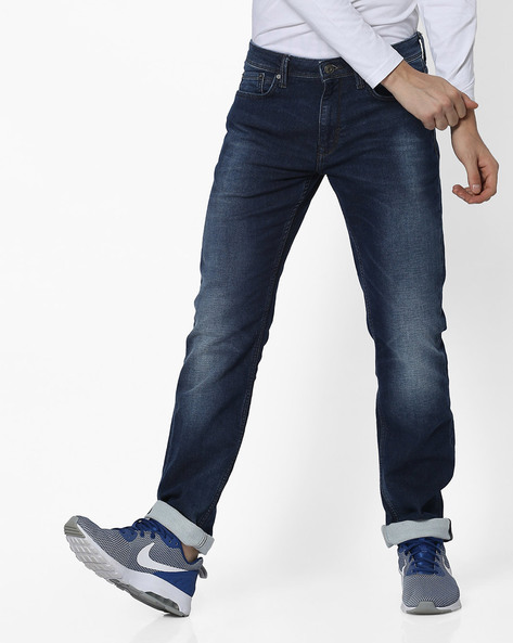 Lightly Washed Slim Fit Jeans By Celio ( Blue ) - 460183272001