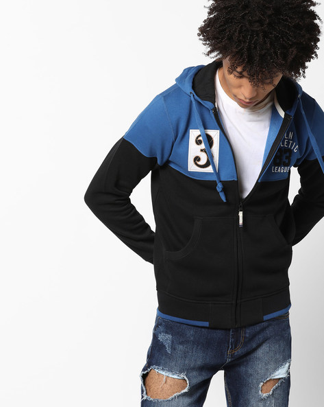 Cut & Sew Hooded Sweatshirt By PROLINE ( Darkblue )