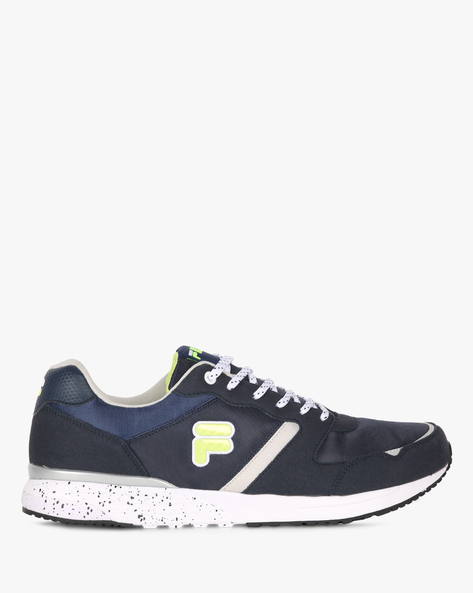 Edsel Panelled Lace-Up Shoes By FILA ( Blue )