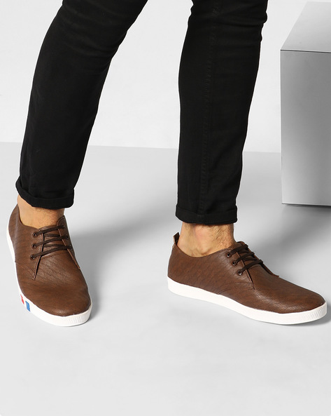 Sneakers With Perforations By Modello Domani ( Brown )