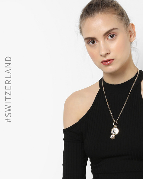 Dual Chain Necklace With Charms By TALLY WEiJL ( Gold )