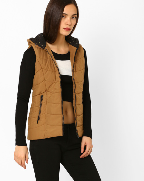 Hooded Quilted Jacket By MONTE CARLO LADIES ( Assorted )