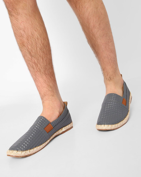 Textured Casual Slip-Ons By AJIO ( Grey )