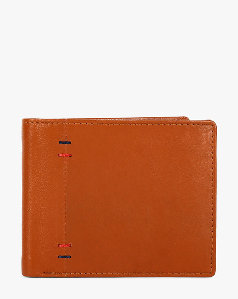 Genuine Leather Twofold Wallet By TEAKWOOD LEATHERS ( Tan )