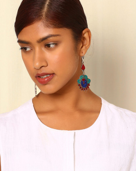 Tibetian-Style Brass Alloy Drop-Earrings By Indie Picks ( Multi ) - 460042507001