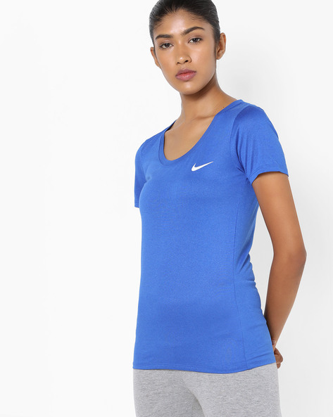 Crew-Neck T-Shirt With Ribbed Neckline By NIKE ( White )