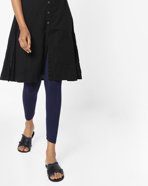 Ankle-Length Knit Leggings By Project Eve IW Casual ( Navy )
