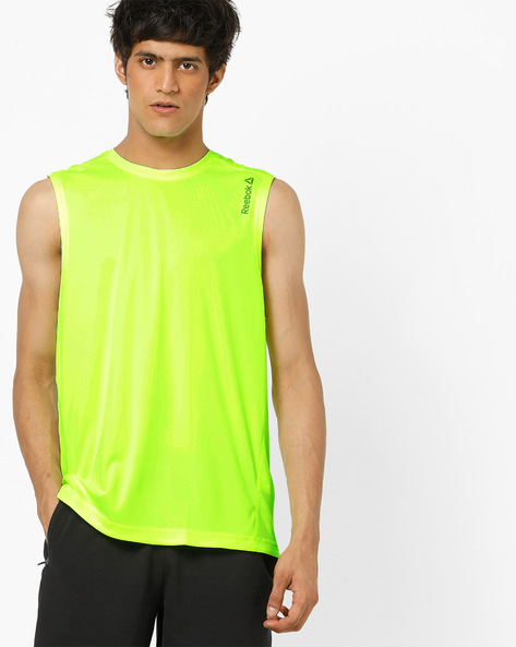 Sleeveless Crew-Neck T-shirt With Signature Branding By Reebok ( Multi )