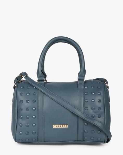 Embellished Textured Sling Bag By CAPRESE ( Blue )