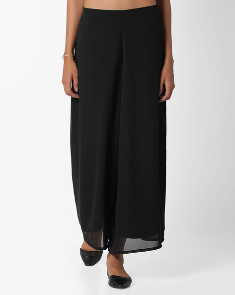 Georgette Palazzo Pants By And ( Black )