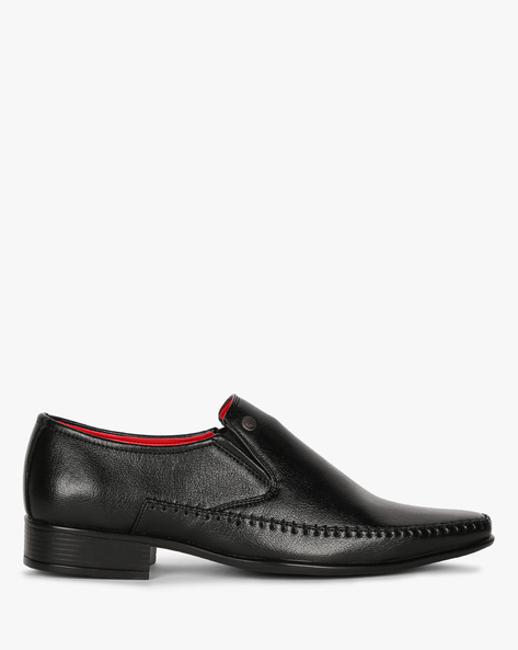 Panelled Formal Shoes With Elasticated Gussets By ALBERTO TORRESI ( Black )