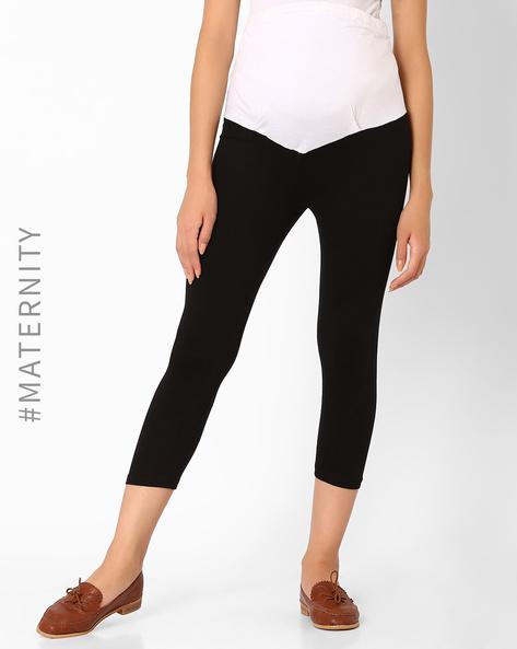 Colourblock Maternity Pants By Preggear ( Black )