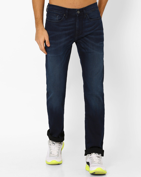 Coenz Slim Fit Lightly Washed Jeans By Celio ( Assorted )