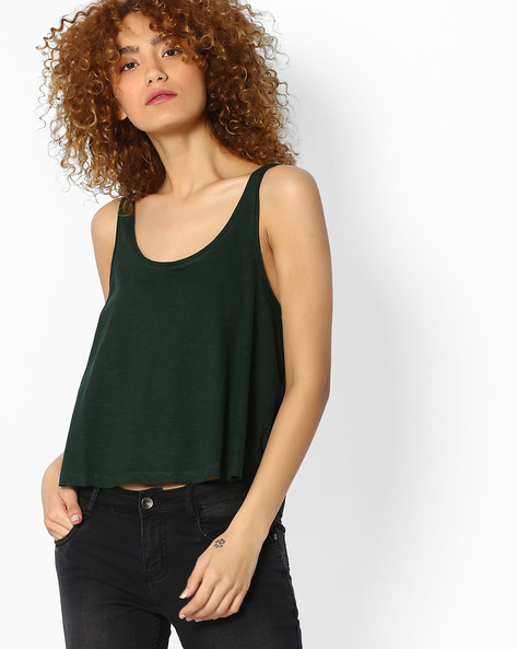Scoop-Neck Tank Top By Ginger By Lifestyle ( Green )