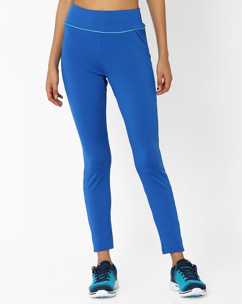 Track Pants With Contrast Piping By AJIO ( Blue )