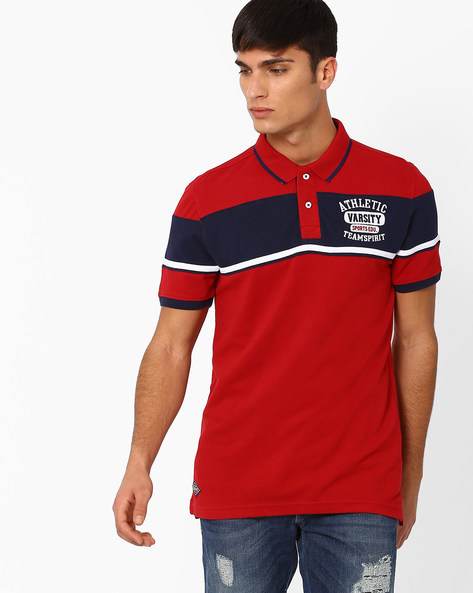 Cotton Polo T-shirt By TEAM SPIRIT ( Red )