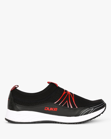 Slip-On Sports Shoes With Pull Loops By DUKE ( Black )