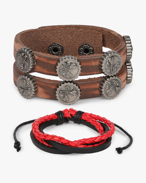 Set Of 2 Bracelets By ALPHA MAN ( Red ) - 460134330001