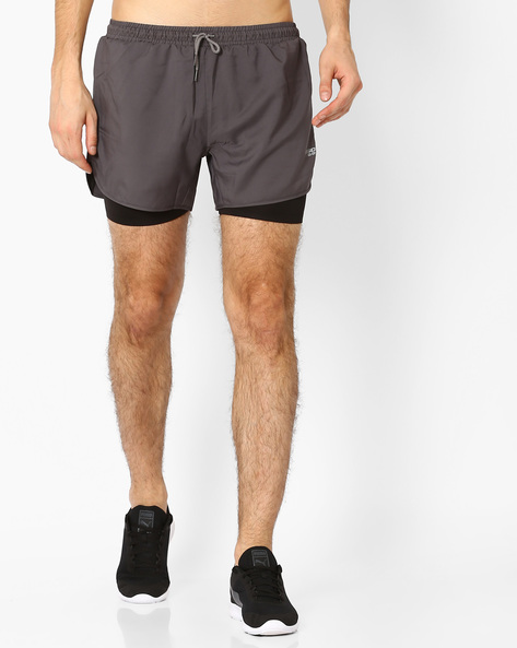 Shorts With Inner Tights By 2Go ( Grey )