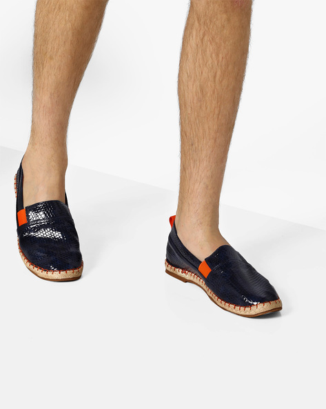 Textured Espadrilles With Inserts By AJIO ( Navy )