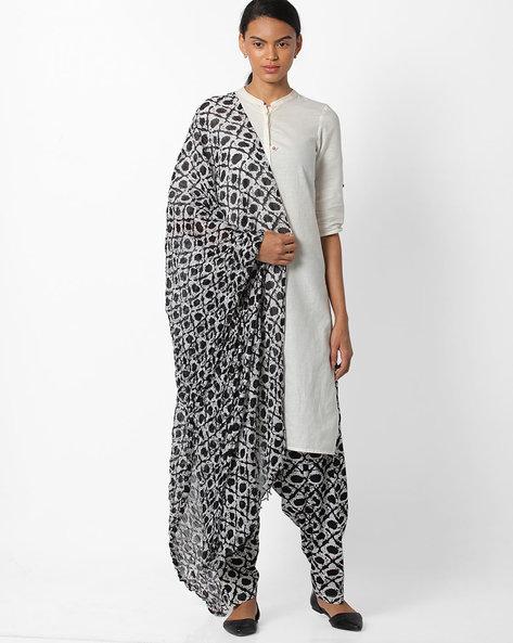 Printed Patiala Pants And Dupatta Set By Stylenmart ( Multi )