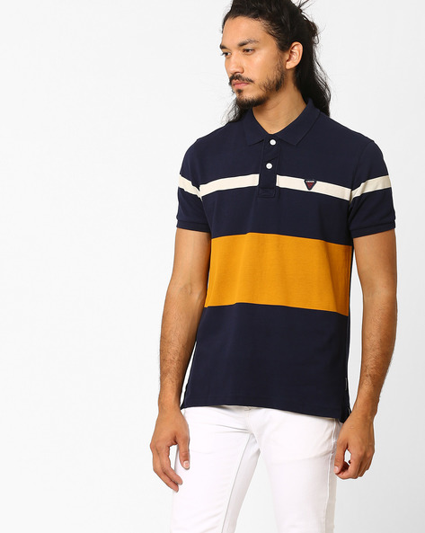 Slim Fit Polo T-shirt By FLYING MACHINE ( Assorted ) - 440720342002
