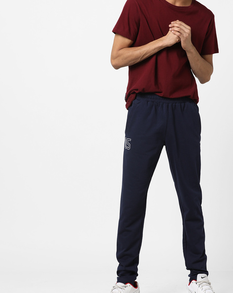 Mid-Rise Track Pants With Pockets By ALCIS ( Navyblue ) - 460174422001