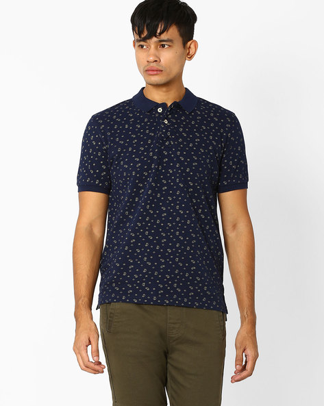 Slim Fit Polo T-shirt By FLYING MACHINE ( Assorted ) - 440720317001