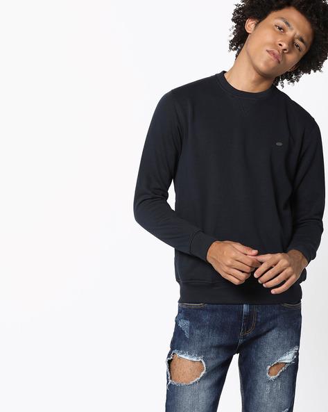 Comfort Fit Crew-Neck Sweatshirt By PROLINE ( Navy )