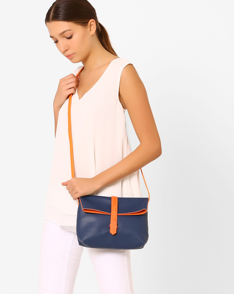 Foldover Sling Bag By Gusto ( Blue )